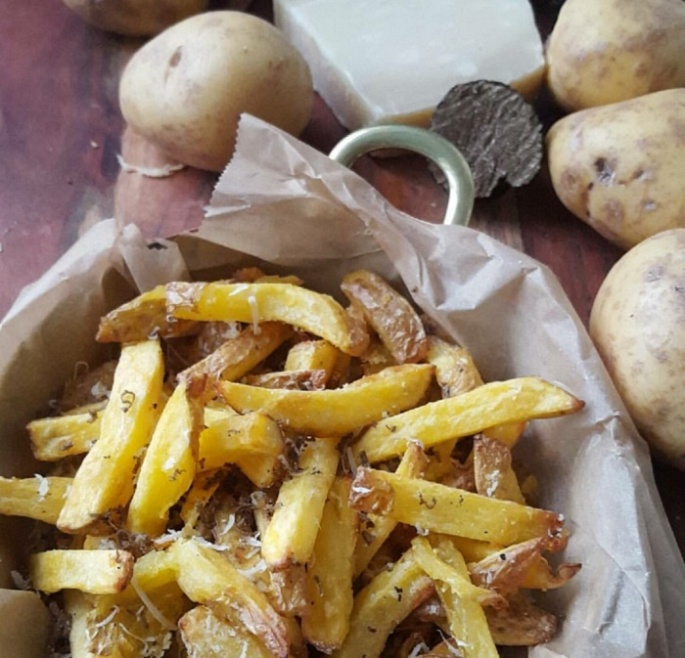 Truffle fries, recipe, analizagonzales.com, potatoes, truffles, Parmesan cheese
