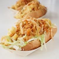 Shrimp Po'boy with kimchi kraut