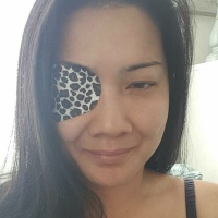 When accidents happens what do you do? I made decorative eye patches