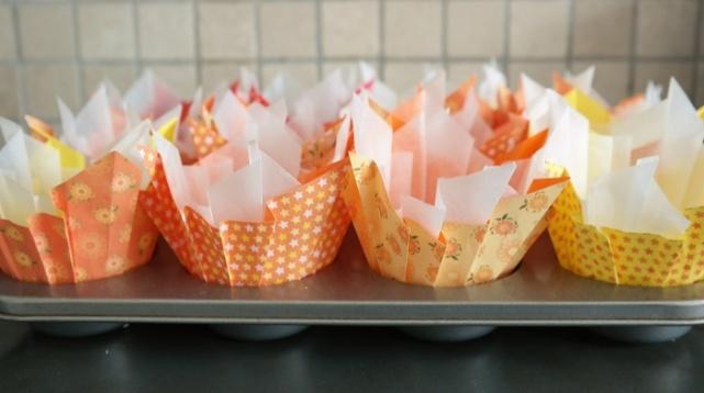 Homemade cup cake liners, cup cake liner DIY, DIY, analizagonzales.com