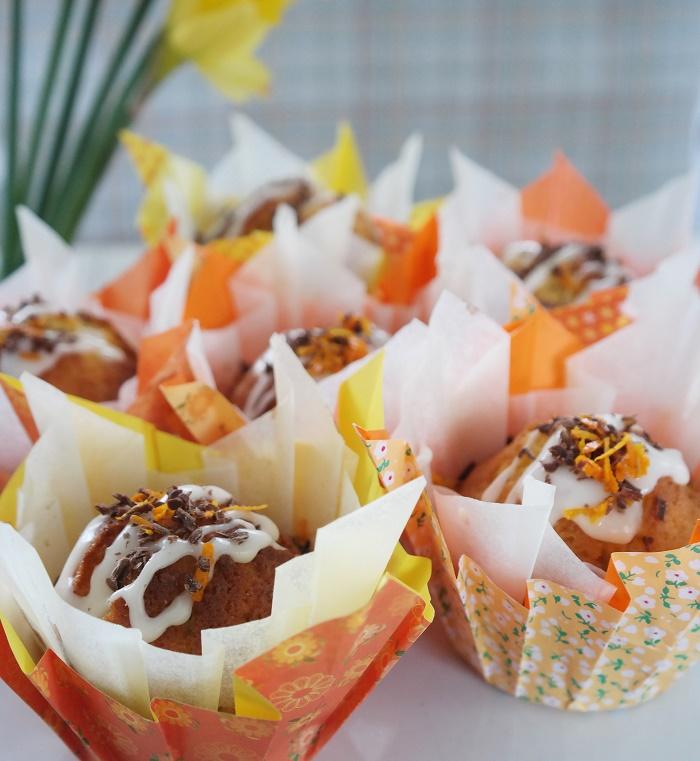 Orange cup cakes