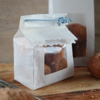 Homemade paper bag DIY for your treats.