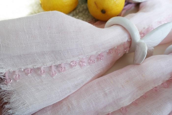 Beaded napkin DIY