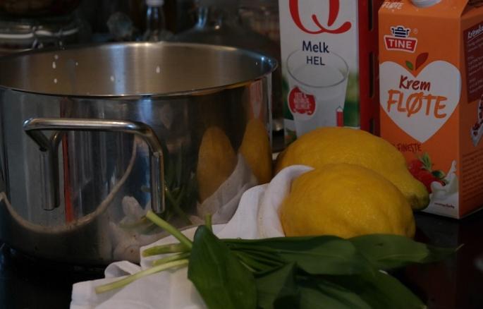Wild garlic creamcheese recipe