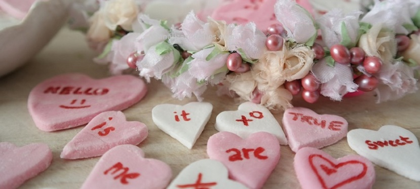 Sweets for you sweet. Homemade conversation hearts for Valentines day