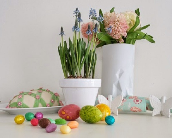 Easter treats and flowers