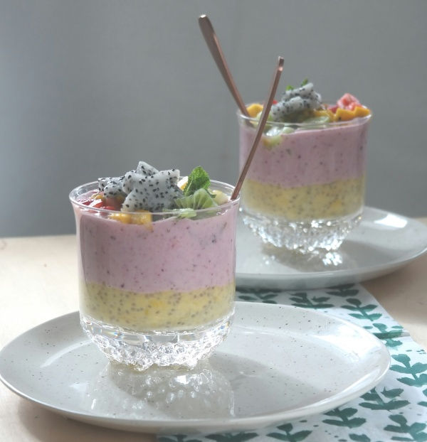 Chia pudding, recipe, chiapudding, analizagonzales.com, multicolored chia pudding, dessert, breakfast, snack, treat.