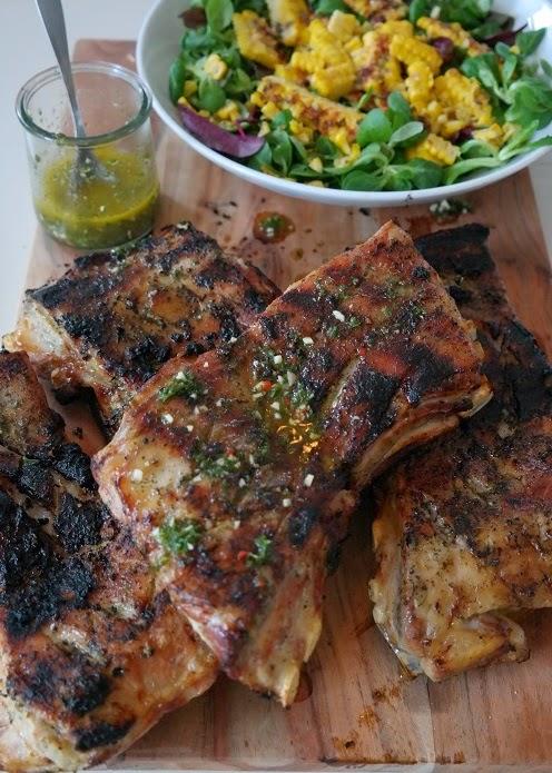 Grille lamb rack