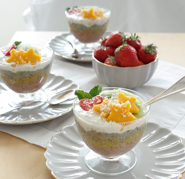 Chia pudding, smoothie pudding, recipe, analizagonzales.com. Fruit chia pudding