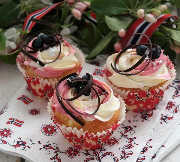 Cupcake, lemon cupcake, lemon frosting, raspberry frosting, buttercream, Analiza Gonzales