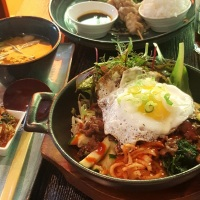Bibimbap, korean mixed rice dish